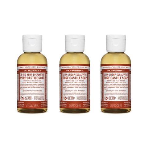 Pure-Castile Liquid Soap Eucalyptus 3x59ml
