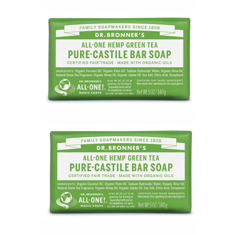 Pure-Castile Hemp Bar Soap Green Tea x 2