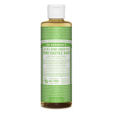 Pure-Castile Liquid Soap Green Tea 237ml