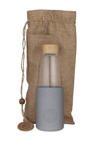 850ml Glass Water Bottle Cool_Grey