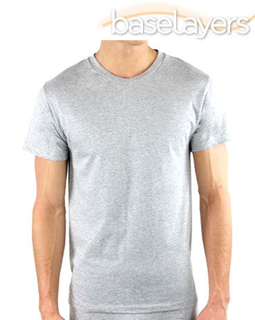 100% Pure Cotton Crew Tee Grey Marl