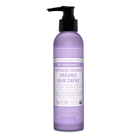 Organic Hair Creme Conditioner Lavender Coconut