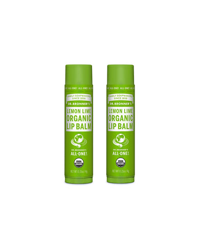 Organic Lip Balm Lemon Lime Duo