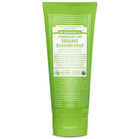 Organic Shaving Soap Gel Lemongrass Lime