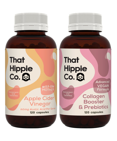 Vegan Collagen Booster and Apple Cider Vinegar - 120 + 120 capsules