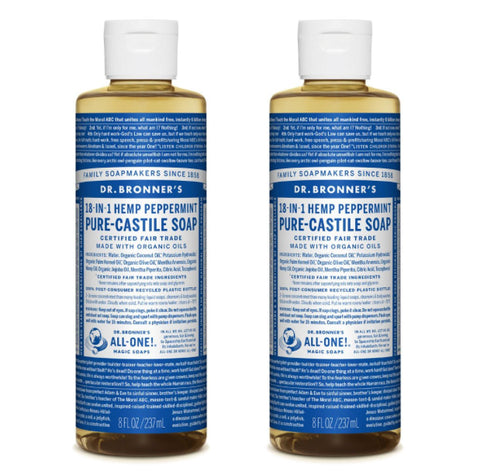 Pure-Castile Liquid Soap Peppermint 2x237ml