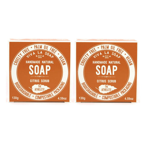 The Athlete Citrus Scrub Soap Duo