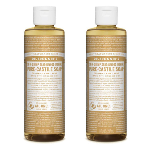 Pure-Castile Liquid Soap Sandalwood Jasmine 2x237ml
