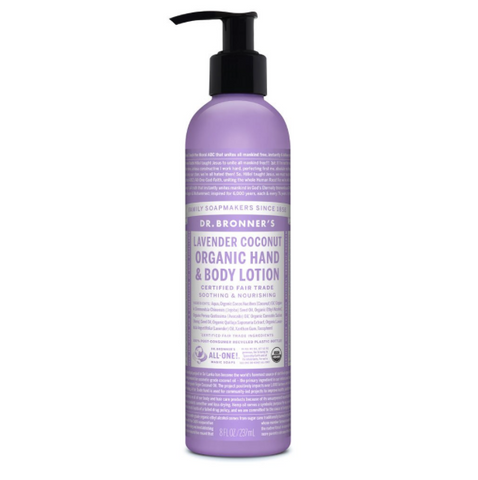 Organic Hand & Body Lotion Lavender Coconut