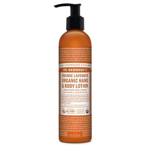Organic Hand & Body Lotion Orange Lavender