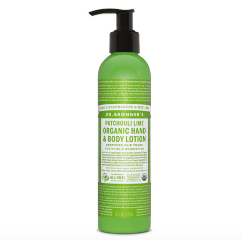Organic Hand & Body Lotion Patchouli Lime