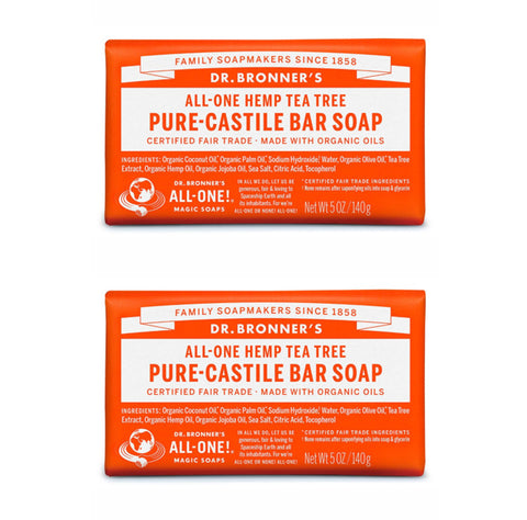 Pure-Castile Hemp Bar Soap Tea Tree x 2