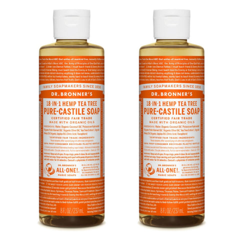 Pure-Castile Liquid Soap Tea Tree 2x237ml
