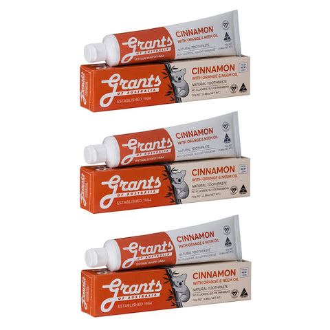 Natural Toothpaste Multibuy x3 Cinnamon
