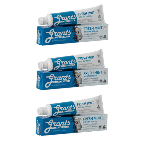 Natural Toothpaste Multibuy x3 Fresh Mint