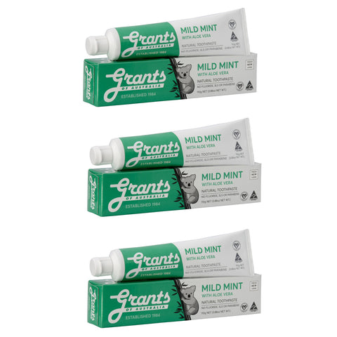 Natural Toothpaste Multibuy x3 Mild Mint
