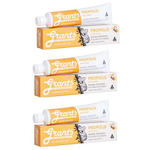 Natural Toothpaste Multibuy x3 Propolis