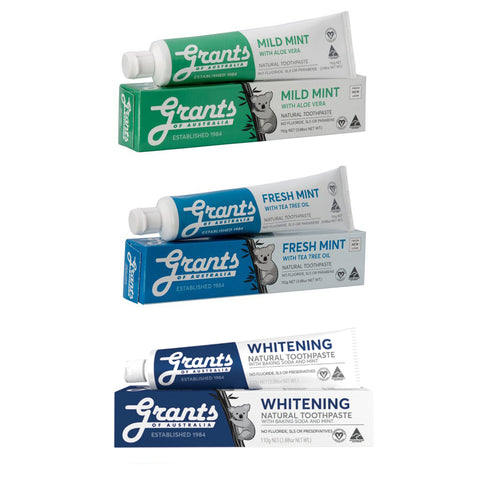 Natural Toothpaste Multibuy x3 Flavours