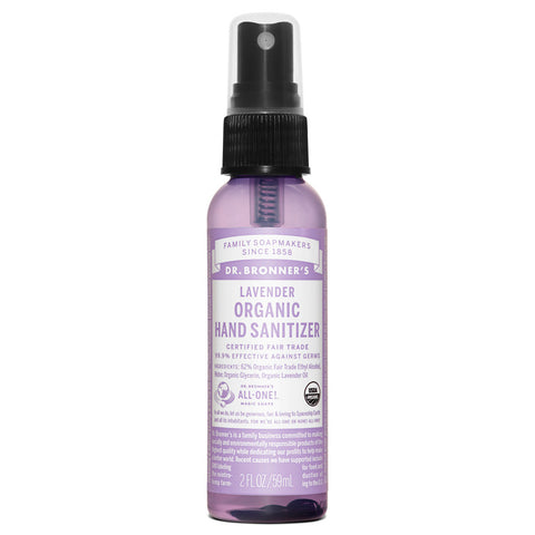 Organic Hand Sanitizing Spray Lavender