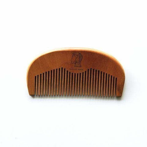 Wooden Beard and Hair Pocket Comb