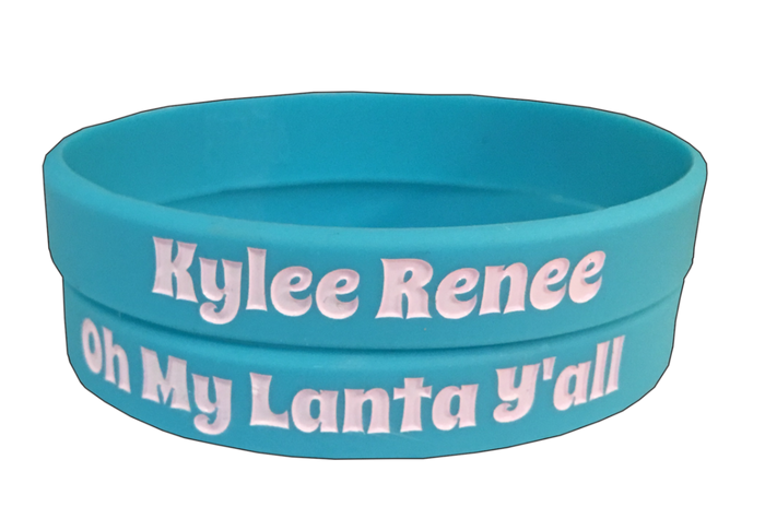 "Kylee Renee's Neon Blue ""Oh My Lanta Y'all"" Wristband"