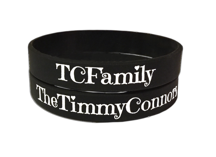 The Timmy Connors Black 'TC Family' Wristband