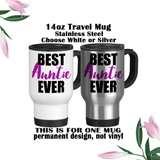 Best Auntie Ever, Aunt Coffee Mug, Water Bottle, Travel Mug, Christmas Gifts, Gifts For Auntie, Auntie Reveal, Baby Reveal, Aunt Gift