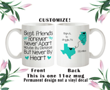 Best Friends Gift, BFF Moving Gift, Bestie Mug, Long Distance Gift, Friend Bottles
