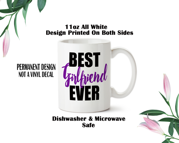 Best Girlfriend Ever, Coffee Mug, Water Bottle, Travel Mug, Christmas Gifts, Gifts For Her, Anniversary Gift, Girlfriends Day, Bae Gift
