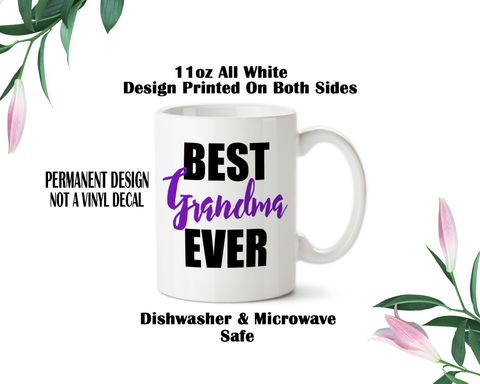 Best Grandma Ever, Coffee Mug, Water Bottle, Travel Mug, Christmas Gifts, Grandma Cup, Birthday For Grandma