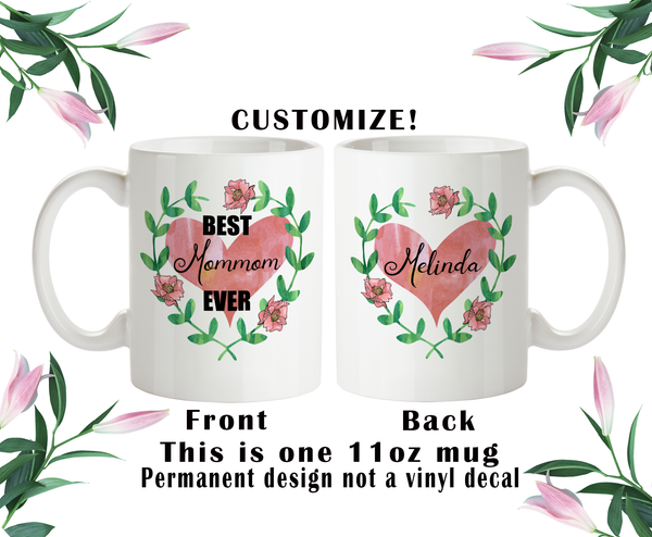 Best Mommom Ever, Mommom Coffee Mug, Water Bottle, Travel Mug, Christmas Gifts, Mommom Cup, Birthday For Mommom
