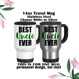 Best Uncle Ever, Uncle Coffee Mug, Uncle Water Bottle, Uncle Travel Mug, Christmas Gifts, Gifts For Uncle, Uncle Reveal, Baby Reveal, Uncle Gift