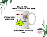Golfing Coffee Mug, Golf Water Bottle, Travel Mug, Christmas Gifts, Gifts For Him, Golf Gift, Fathers Day, Golfer Gift