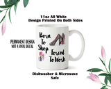 Born To Shop Mug, Shopping Water Bottle, Travel Mug, Christmas Gifts, Shopaholic Mug, Shopper Gift, Shoes