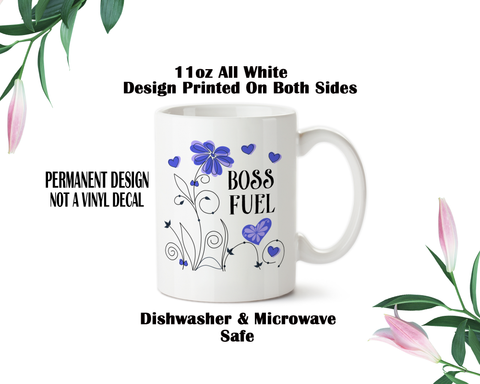 Boss Fuel Mug, Coffee Mug, Boss Water Bottle, Travel Mug, Christmas Gifts, Birthday Gifts, Boss Work Mug, Office Cup, Coworker Gifts