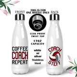 Volleyball Coach Coffee Mug, Water Bottle, Travel Mug, Christmas Gifts, Birthday Gifts, Thanks Coach, Coach Gift