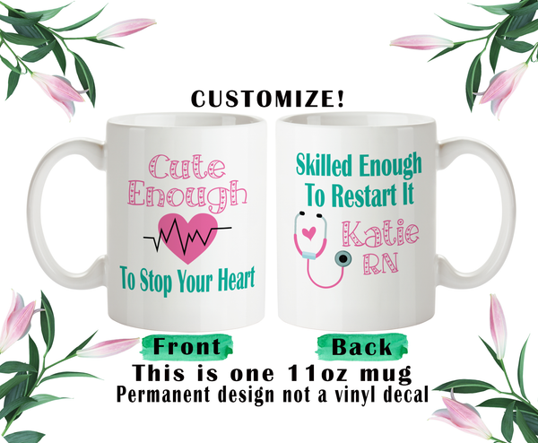 Nurse Coffee Mug, Nurse Water Bottle, Nurse Travel Mug, Christmas Gifts, Gifts For Nurse, Cute Nurse Gift