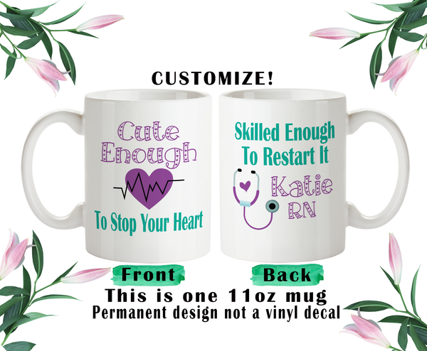 Cute Nurse Coffee Mug, Nurse Water Bottle, Nurse Travel Mug, Christmas Gifts, Gifts For Nurse, Cute Nurse Gift