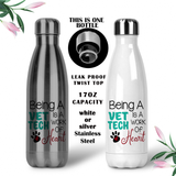 Vet Tech Coffee Mug, Vet Water Bottle, Travel Mug, Christmas Gifts, Gifts For Vet Techs, Vet Tech Grad Gift, Vet Cups