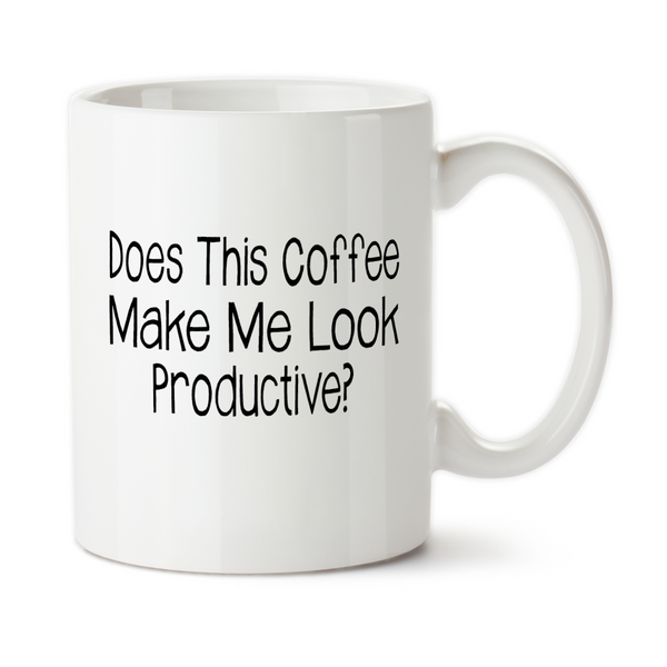 Does This Coffee Make Me Look Productive, Travel Mug, Christmas Gifts, Birthday Gifts, Office Mug, Funny Work Cup