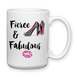 Fierce And Fabulous, Coffee Mug, Water Bottle, Travel Mug, Christmas Gifts, Birthday Gifts, Boss Work Mug, Office Cup, Coworker Gifts