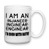 I Am An Engineer, Coffee Mug, Water Bottle, Travel Mug, Christmas Gifts, Birthday Gifts, Engineer Work Mug, Office Cup, Engineer Gifts