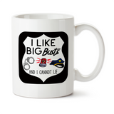 I Like Big Busts And I Cannot Lie, Travel Mug, Christmas Gifts, Birthday Gifts, Officer Mug, Funny Police Mug
