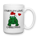 I Turtley Love Christmas, Coffee Mug, Water Bottle, Travel Mug, Christmas Gifts, Turtle Gift, Turtle Lover Gift, Turtle Mug