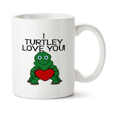 I Turtley Love You, Coffee Mug, Water Bottle, Travel Mug, Christmas Gifts, Turtle Gift, Anniversary Gift,Turtle Lover Gift, Turtle Mug