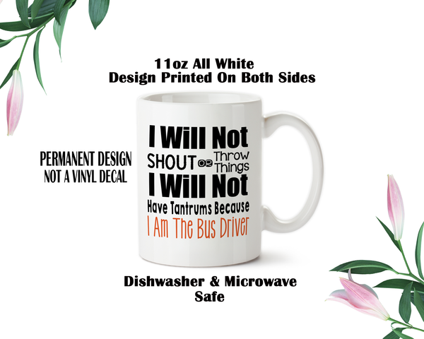Bus Driver Mug, Bus Driver Gift, Funny Bus Driver Gift, End Of School Gift, Bus Driver Appreciation, School Gifts