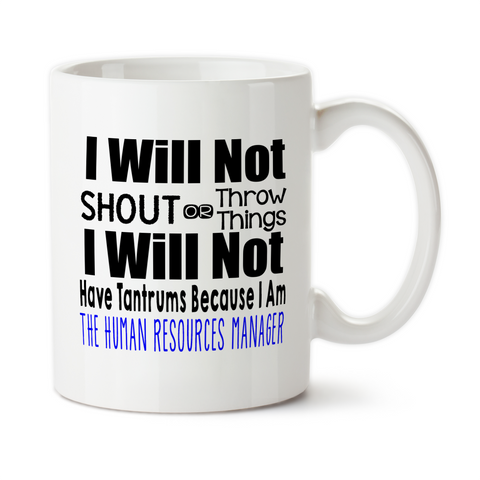 Human Resources Manager, Coffee Mug, Water Bottle, Travel Mug, Christmas Gifts, Birthday Gifts, HR Work Mug, Office Cup, Funny Work Gifts