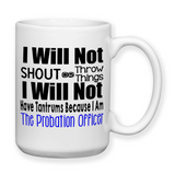 Probation Officer, Travel Mug, Christmas Gifts, Birthday Gifts, Officer Mug, Funny Police Mug