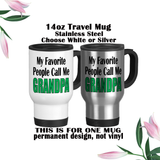 Grandpa Mug, Fathers Day Gifts, Water Bottle, Coffee Mug, Travel Mug, Birthday For Grandpa