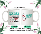 Nurse Practitioner Coffee Mug, Nurse Water Bottle, Nurse Travel Mug, Christmas Gifts, Gifts For Nurse, Funny Nurse Cup